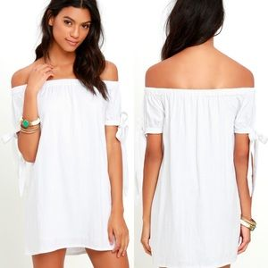 Lulus Off the Shoulder Dress, Size Small